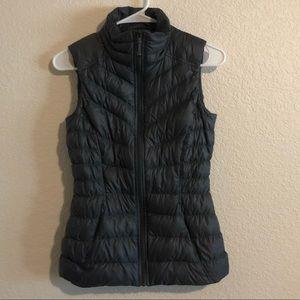 Athleta Gray Down Vest Size XXS